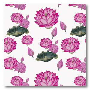 Behang met Lotus roze