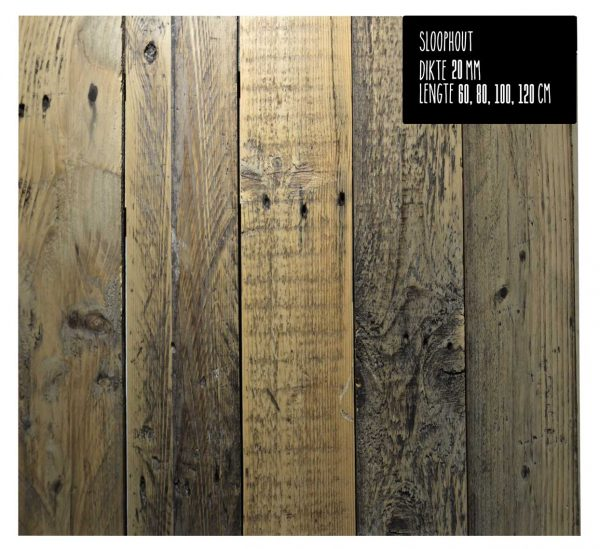 Wandplank-sloophout-product
