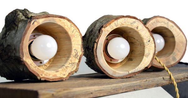 Hanglamp van berkenhout 01