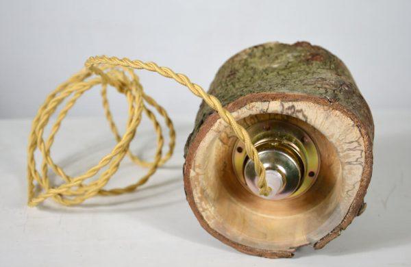 Hanglamp van berkenhout 03