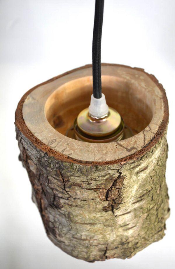 Hanglamp van berkenhout 05