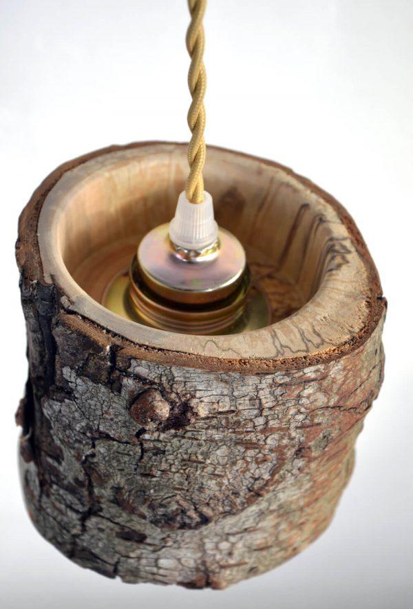 Hanglamp van berkenhout 06