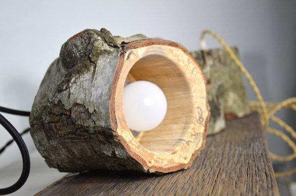 Sfeervolle hanglamp van berkenhout 02