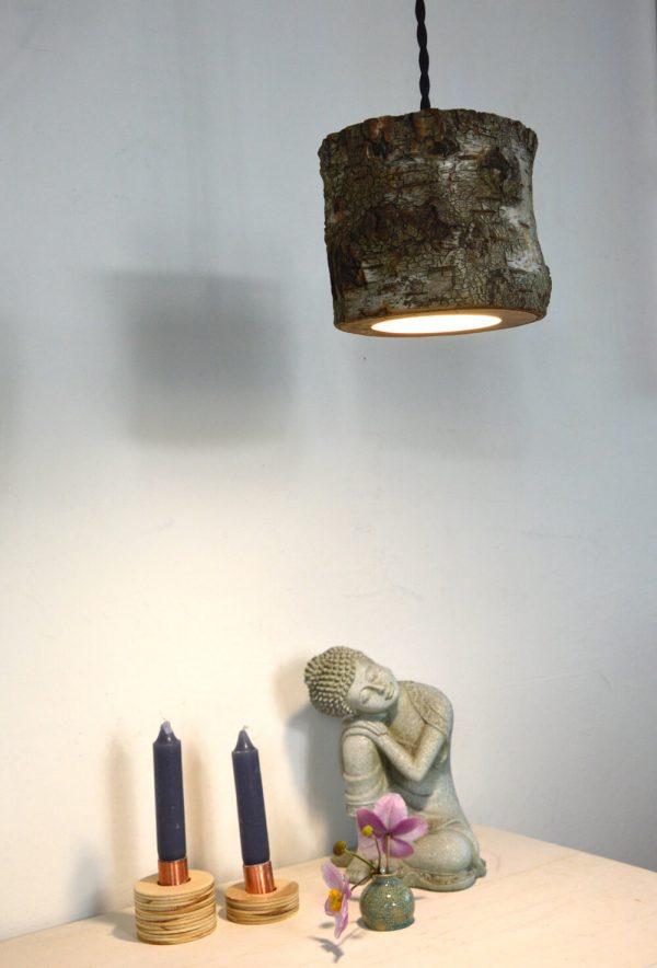 Sfeervolle hanglamp van berkenhout 08